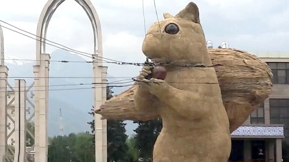 A Forty-foot squirrel is causing chaos in one Kazakhstan metropolis.