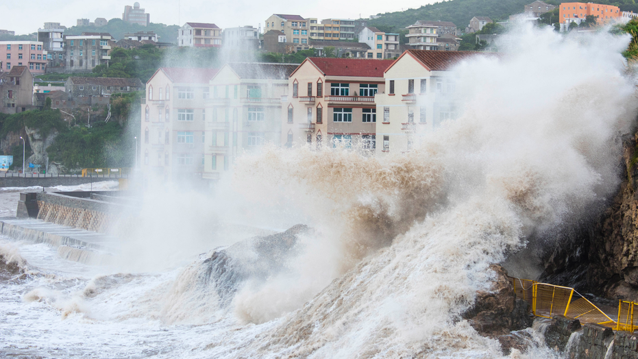 Typhoon Maria: Huge waves and high winds batter Chinese coastal towns