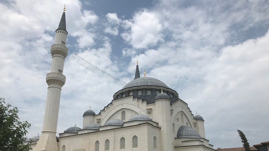 A mosque at the Islamic Center in Lanham, Md., built with Turkish government support and money.