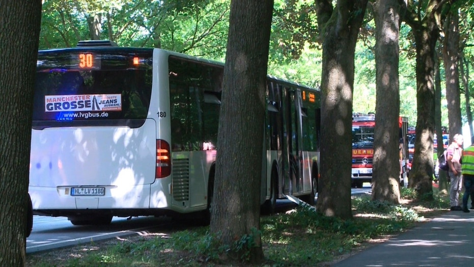 Ten injured after knife attack on crowded bus in Germany