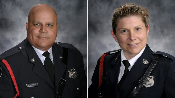 Robb Costello and Sara Burns were identified as the two officers killed in a shooting on Friday, August 10, 2018.  (Courtesy of the Fredericton Police Department)