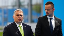 Hungarian Prime Minister Viktor Orban waves as he arrives for a summit of heads of state and government at NATO headquarters in Brussels on Wednesday, July 11, 2018. NATO leaders gather in Brussels for a two-day summit to discuss Russia, Iraq and their mission in Afghanistan. (AP Photo/Francois Mori)