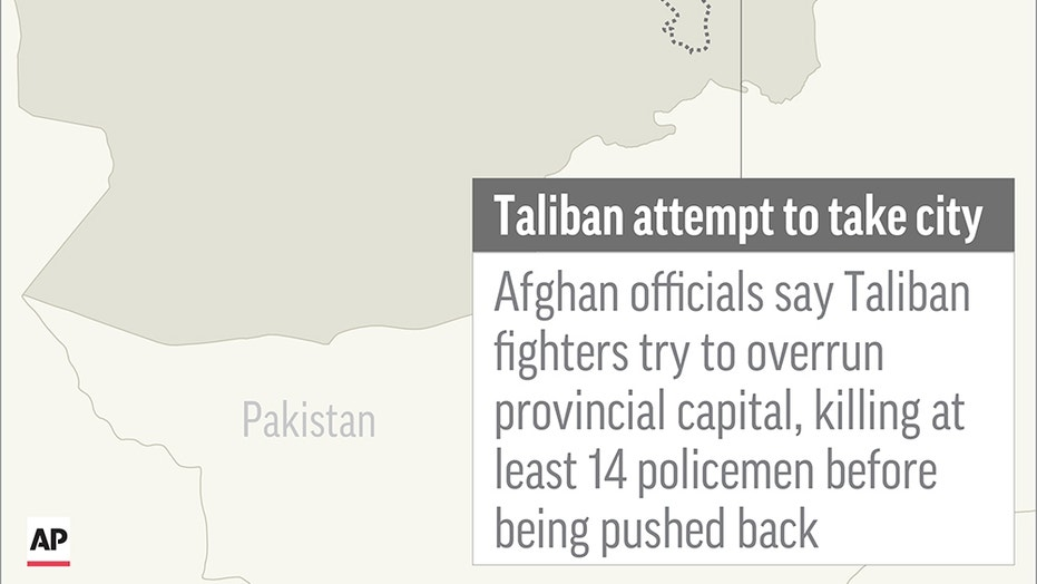 U.S. launches airstrikes as Taliban attack Afghan city