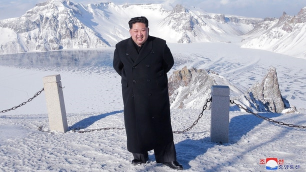 North Korean leader Kim Jong Un visits Mount Paektu in this photo released by North Korea's Korean Central News Agency (KCNA) in Pyongyang December 9, 2017.  KCNA/via REUTERS    ATTENTION EDITORS - THIS IMAGE WAS PROVIDED BY A THIRD PARTY. REUTERS IS UNABLE TO INDEPENDENTLY VERIFY THIS IMAGE. SOUTH KOREA OUT. NO THIRD PARTY SALES. NOT FOR USE BY REUTERS THIRD PARTY DISTRIBUTORS     TPX IMAGES OF THE DAY - RC16A8F65AD0