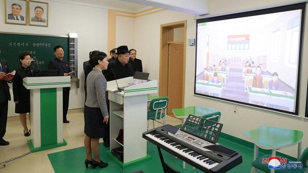 North Korean leader Kim Jong Un visits the newly-remodeled Pyongyang Teacher Training College, in this photo released by North Korea's Korean Central News Agency (KCNA) in Pyongyang on January 17, 2018.   KCNA/via REUTERS   ATTENTION EDITORS - THIS PICTURE WAS PROVIDED BY A THIRD PARTY. REUTERS IS UNABLE TO INDEPENDENTLY VERIFY THE AUTHENTICITY, CONTENT, LOCATION OR DATE OF THIS IMAGE. NO THIRD PARTY SALES. SOUTH KOREA OUT. - RC15CEBD7130