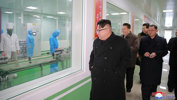 North Korean leader Kim Jong Un gives field guidance at the Pyongyang Pharmaceutical Factory, in this undated photo released by North Korea's Korean Central News Agency (KCNA) in Pyongyang January 25, 2018. KCNA / via REUTERS     ATTENTION EDITORS - THIS PICTURE WAS PROVIDED BY A THIRD PARTY. REUTERS IS UNABLE TO INDEPENDENTLY VERIFY THE AUTHENTICITY, CONTENT, LOCATION OR DATE OF THIS IMAGE. NO THIRD PARTY SALES. NOT FOR USE BY REUTERS THIRD PARTY DISTRIBUTORS. SOUTH KOREA OUT. - RC1A09A93D90