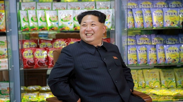 North Korean leader Kim Jong Un smiles while sitting during a visit to inspect the Pyongyang Children's Foodstuff Factory, in this undated photo released by North Korea's Korean Central News Agency (KCNA) on November 14, 2015.    REUTERS/KCNA ATTENTION EDITORS - THIS PICTURE WAS PROVIDED BY A THIRD PARTY. REUTERS IS UNABLE TO INDEPENDENTLY VERIFY THE AUTHENTICITY, CONTENT, LOCATION OR DATE OF THIS IMAGE. FOR EDITORIAL USE ONLY. NOT FOR SALE FOR MARKETING OR ADVERTISING CAMPAIGNS. NO THIRD PARTY SALES. SOUTH KOREA OUT. NO COMMERCIAL OR EDITORIAL SALES IN SOUTH KOREA. THIS PICTURE IS DISTRIBUTED EXACTLY AS RECEIVED BY REUTERS, AS A SERVICE TO CLIENTS.       TPX IMAGES OF THE DAY           TPX IMAGES OF THE DAY      - GF20000058979