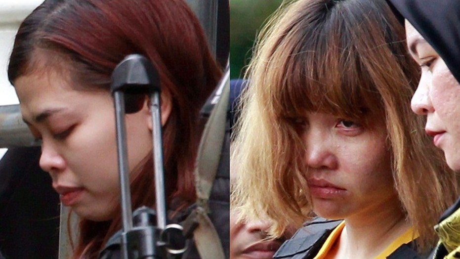 Siti Aisyah, left, and Doan Thi Huong are accused of assassinating Kim Jong Nam with nerve agent at the Kuala Lumpur airport
