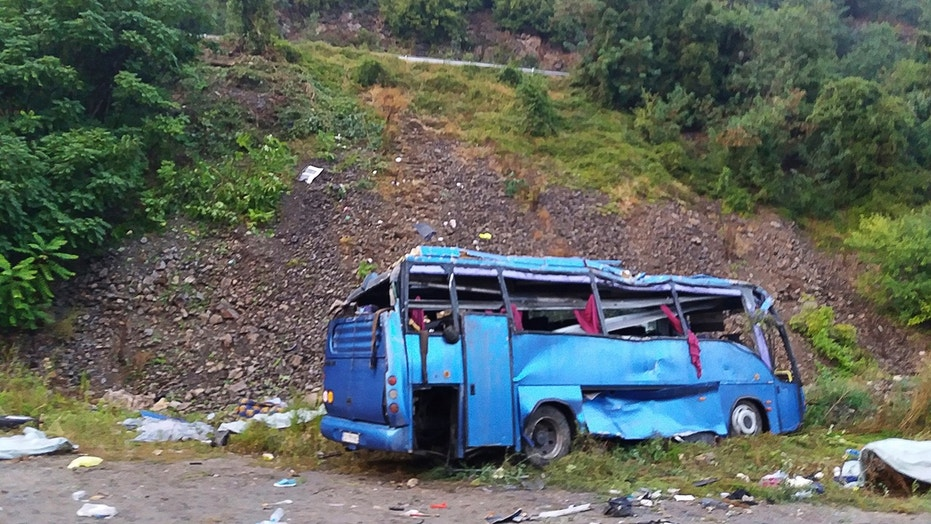Tourist bus crash terror in Bulgaria kills 16 and leaves 26 injured