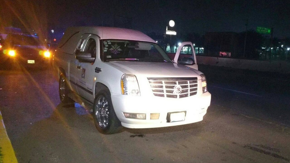 A man made off with a hearse with a corpse inside on Friday in central Mexico, according to police.