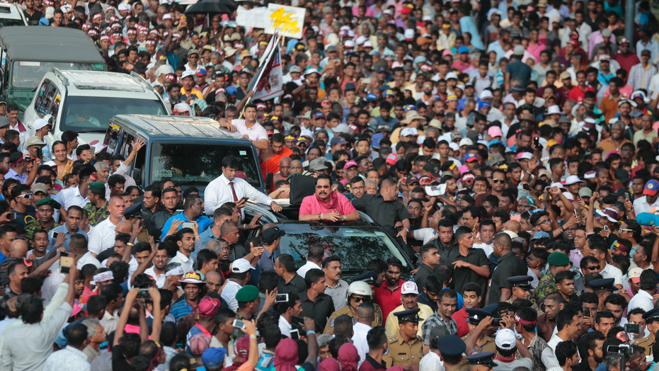 Rajapaksa leads Sri Lanka protests, calls for government change