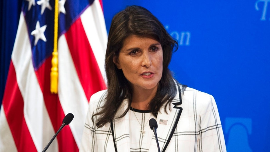 Addressing a United Nations Security Council meeting on chemical weapons use in Syria Thursday afternoon, Ambassador Nikki Haley echoed recent White House statements and again warned Syria and its allies Russia and Iran that the U.S. will act again if chemical weapons are used against Syrian civilians.