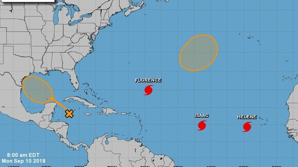 Three hurricanes- Florence Isaac and Helene- are churning across the Atlantic