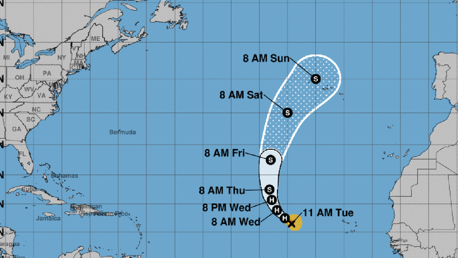 Hurricane Helene is not expected to pose any danger as it turns northward in the Atlantic Ocean