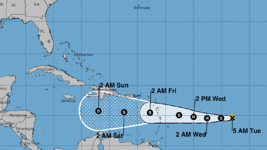 Tropical Storm Warnings for Dominica, Martinique, Guadeloupe