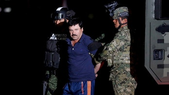 "FILE PHOTO - Joaquin ""El Chapo"" Guzman is escorted by soldiers during a presentation in Mexico City, January 8, 2016. One of Guzman's sons, Alfredo, 29, was among a group of people abducted from a restaurant in the Mexican tourist resort of Puerto Vallarta on August 15, 2016, said Jalisco's Attorney General. REUTERS/Tomas Bravo/File Photo - S1AETVWHPZAB"
