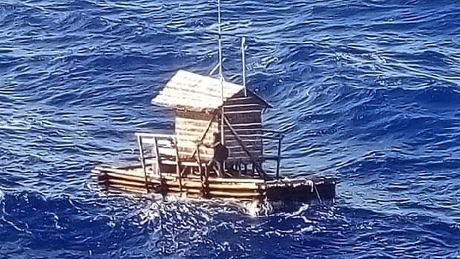 Teenager rescued after drifting at sea for seven weeks on floating hut