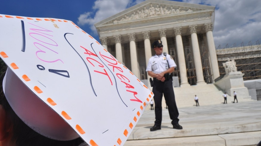 Over 250 so-called DREAMers, or undocumented youth who have been brought into the United States illegally by their parents, gathered Monday in front of the Supreme Court to protest SB 1070 while pushing the DREAM Act.