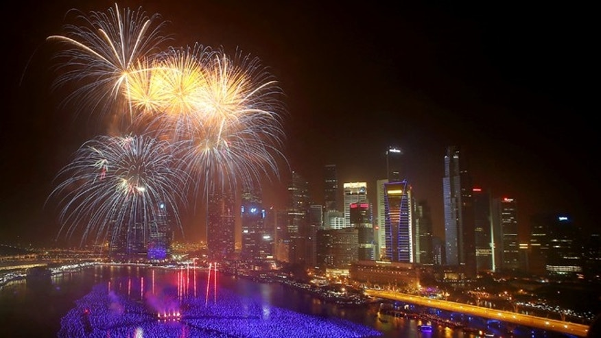 New Year's Eve 2014 celebrations around the world