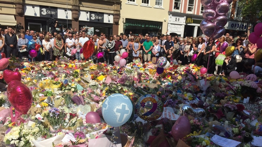 Manchester terror attack: Floral tributes to the victims