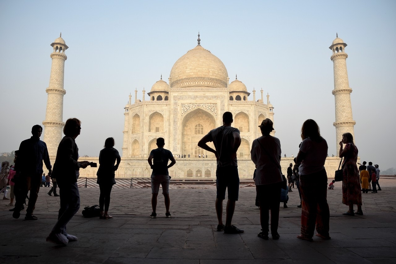 Tourists visit India's famed monument of love, the Taj Mahal, in Agra, India, March 22, 2018