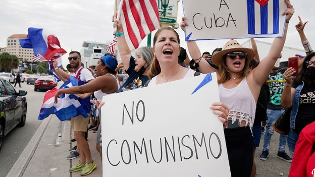 Demonstrations erupt across Florida in support of Cuban people, call for end of communist regime