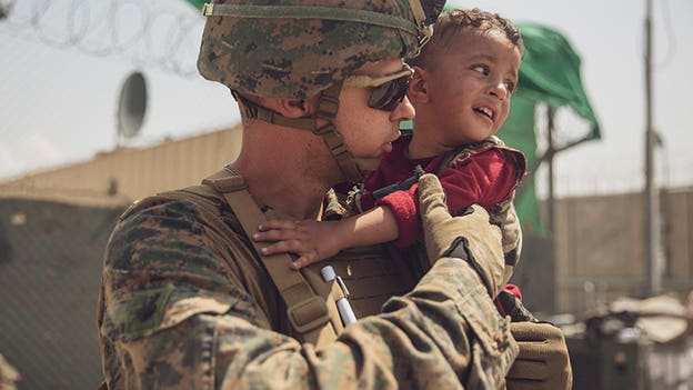 PHOTOS: Marine Corps help rescue Afghan families in Kabul