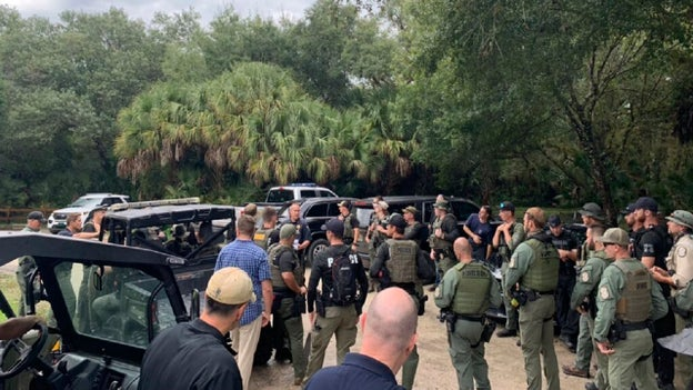 Brian Laundrie's whereabouts remain unknown, no search planned in Florida