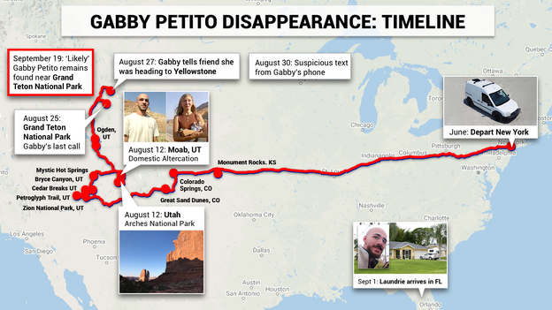 Gabby Petito disappearance: A timeline