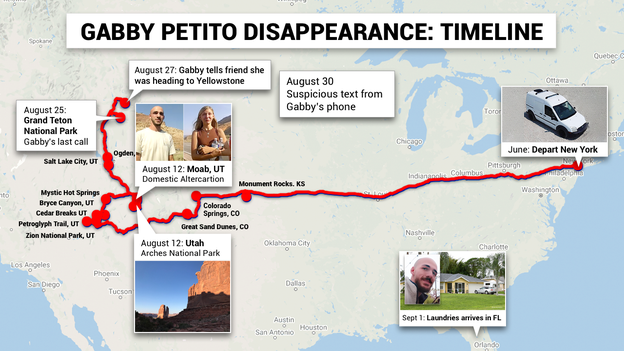 Timeline of Gabby Petito's disappearance