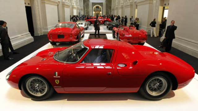 FBN's Adam Shapiro with a look at a 1964 Ferrari 250 LM at the RM Auction in Scottsdale, Arizona.
