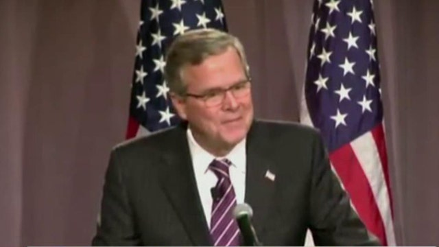 Former Gov. Jeb Bush tries to distance himself from brother, father