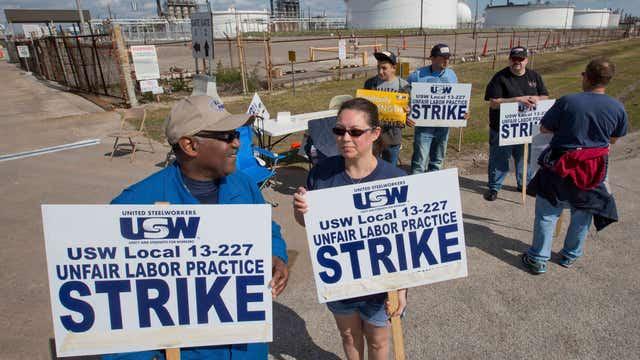 Refinery strikes gain steam