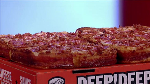 Little Caesars launches bacon-wrapped pizza