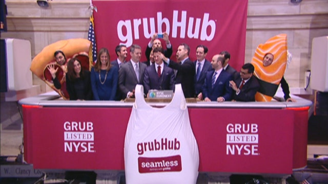 FBN's Charles Payne, Divine Capital CEO Dani Hughes, A&G Capital CIO Hilary Kramer, Tea Party News Network News Director Scottie Nell Hughes, retail analyst Hitha Herzog and Penn Financial Group founder Matt McCall on the outlook for GrubHub.