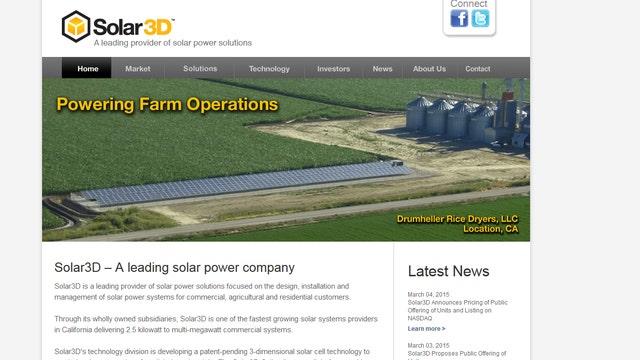 Solar3D CEO on listing on Nasdaq, growth