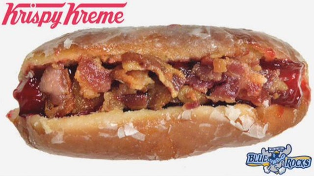 Do you want bacon on your glazed-donut hot dog?
