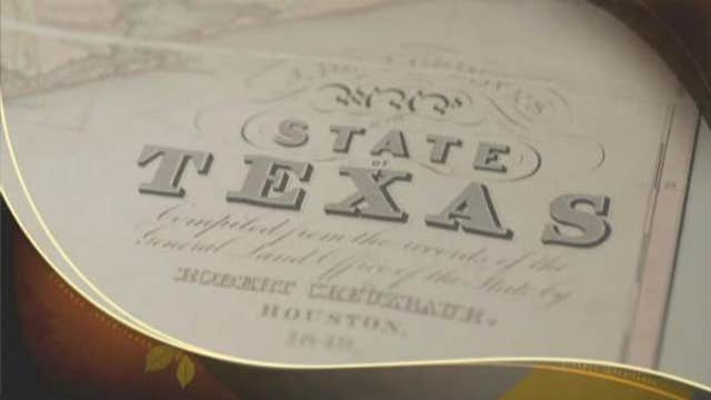The value of a historic map of the Lone Star State