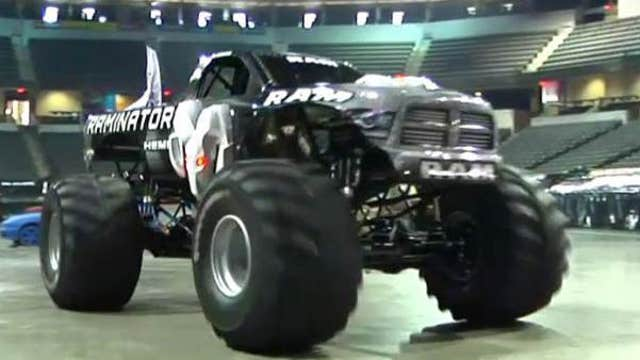 Crushing cars at the Monster Truck Nationals