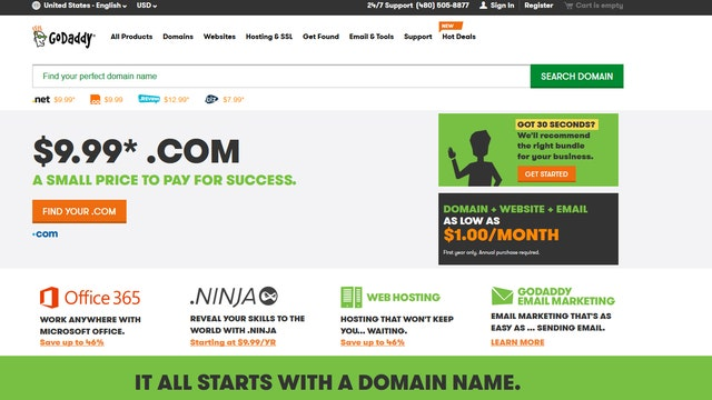 godaddy email login