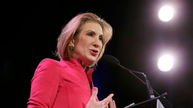 Former HP CEO Carly Fiorina argues the California drought is man-made and also shares her thoughts on the 2016 presidential race.