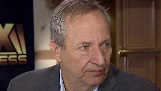 Former U.S. Treasury Secretary Larry Summers expresses his concerns over a stagnant economy and what will move the needle on growth.