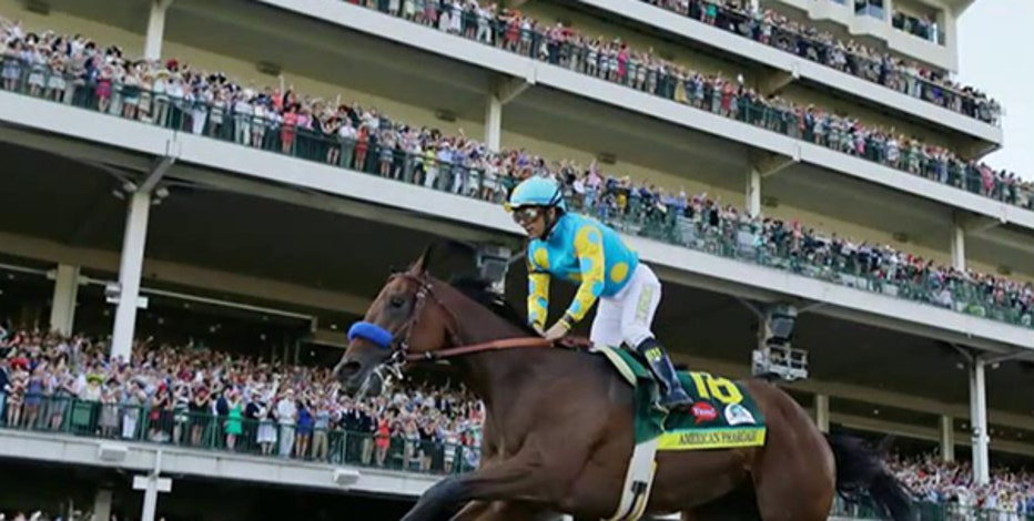 American Pharoah Jockey Victor Espinoza on winning the Triple Crown and his decision to donate all his winnings from the race to the City of Hope.