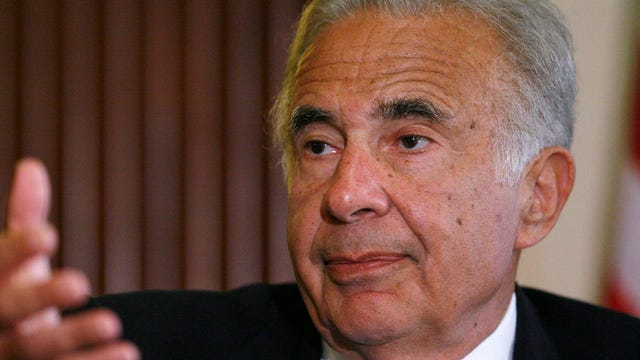 Billionaire Investor Carl Icahn says when it comes to Donald Trump's presidential campaign, he agrees with his views on a bubble brewing.