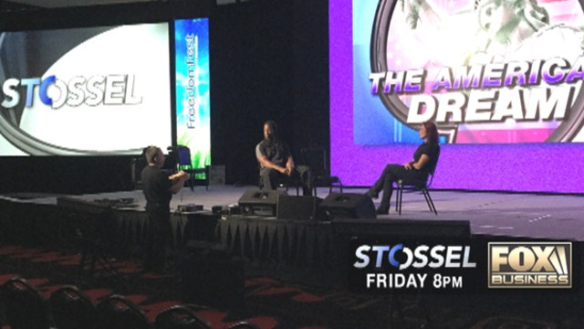 Behind the scenes of Stossel's FreedomFest Vegas show