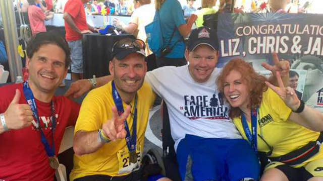 FBN's Liz Claman on competing in the New York City Triathlon to raise money for Building Homes for Heroes.
