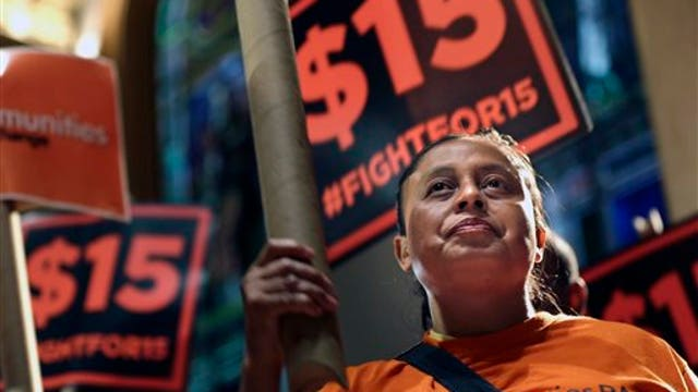 Former McDonalds USA CEO ED Rensi on $15 minimum wage for fast food workers.