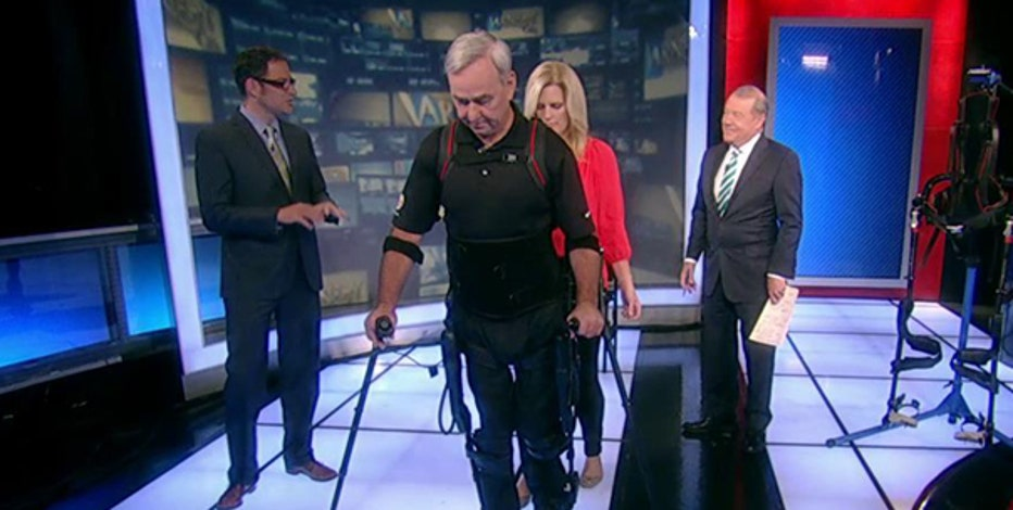 Ekso Bionics CEO Nathan Harding and veteran Billy Woods on the industrial, military and health benefits of the exoskeleton.