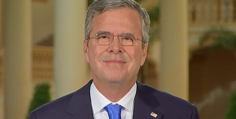 Republican presidential candidate Jeb Bush on his economic plan, ObamaCare and bank regulations.