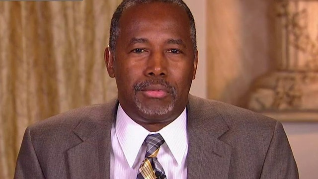 Republican presidential candidate Ben Carson addresses questions about his assertion he was offered a scholarship to West Point and what is needed to boost job growth.